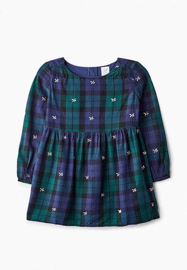 повседневные платье gap для девочки, зеленое