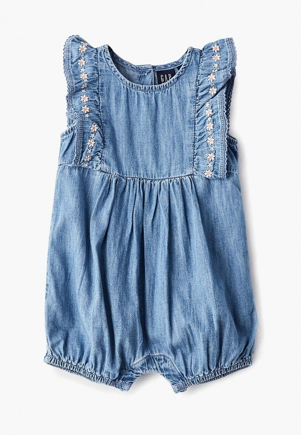 джинсовые комбинезон gap для девочки, синий