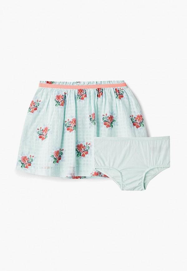 юбка gap для девочки, бирюзовая