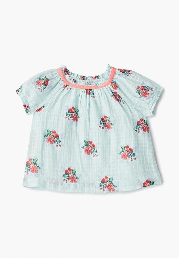 блузка gap для девочки, бирюзовая
