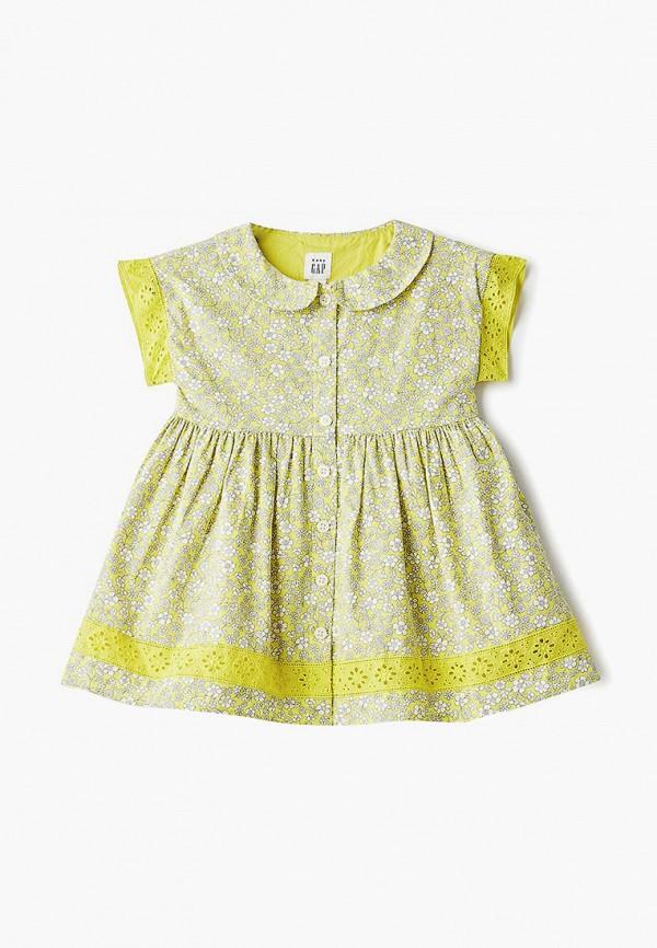 повседневные платье gap для девочки, желтое