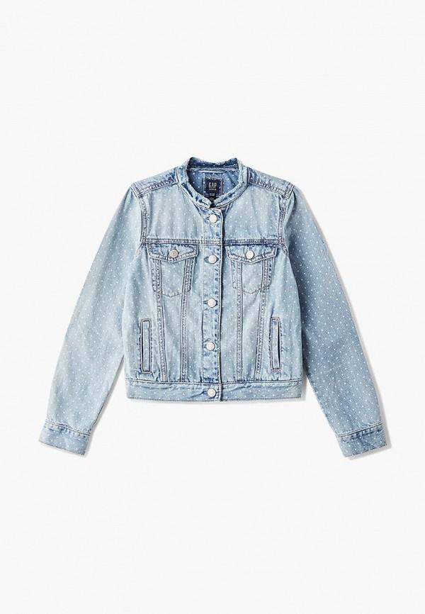 джинсовые куртка gap для девочки, голубая