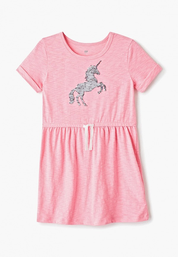 повседневные платье gap для девочки, розовое