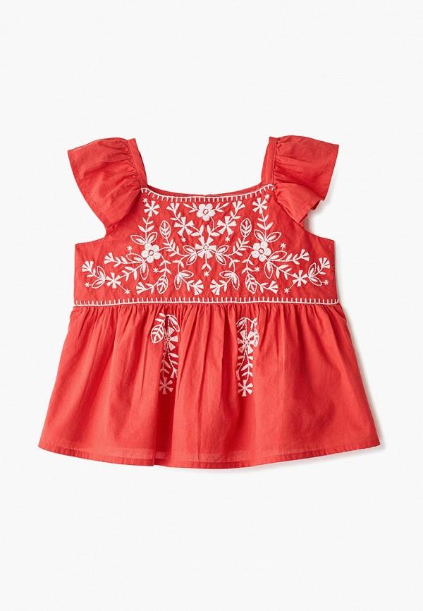 блузка gap для девочки, красная