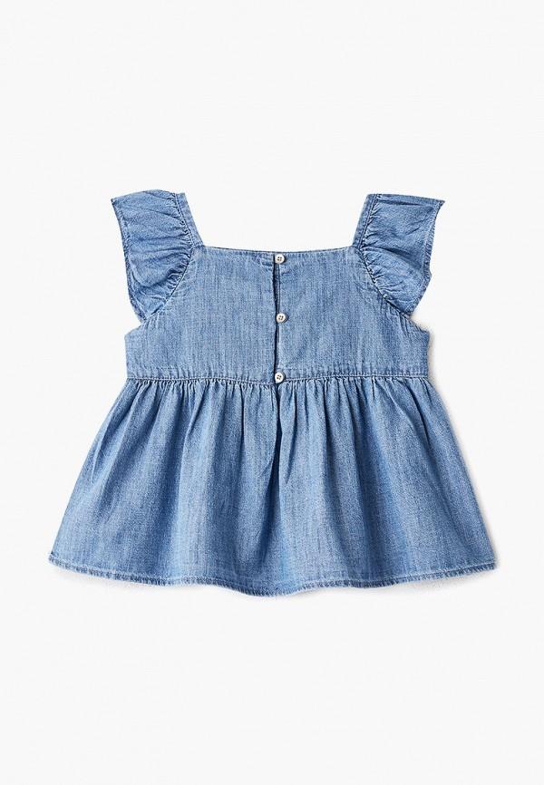 Фото 2 - футболку или топ для девочки Gap синего цвета