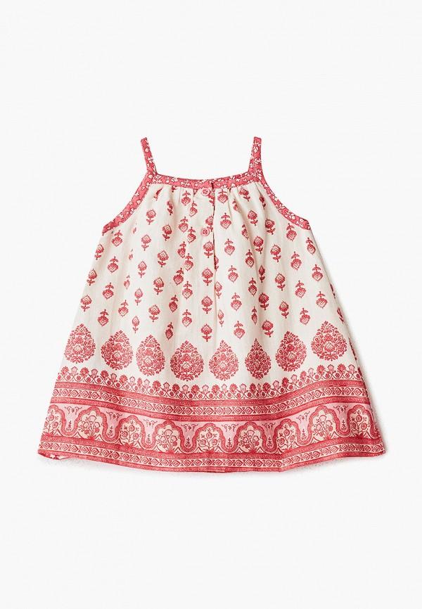Фото 2 - платье или сарафан для девочки Gap белого цвета