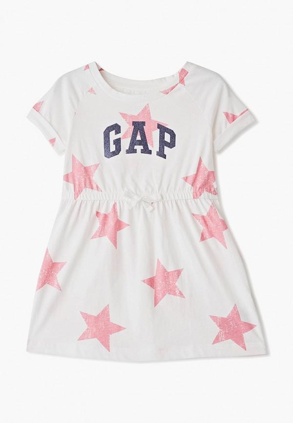повседневные платье gap для девочки, белое