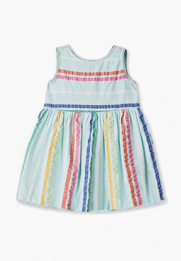 повседневные платье gap для девочки, бирюзовое