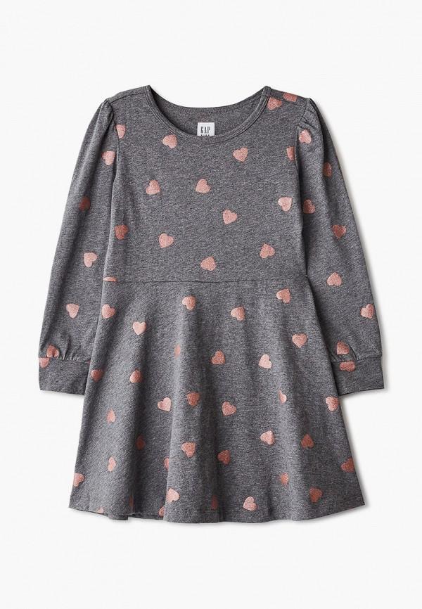 повседневные платье gap для девочки, серое