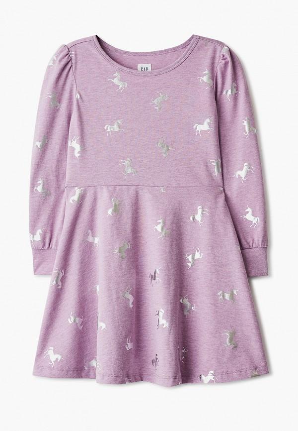 повседневные платье gap для девочки, фиолетовое
