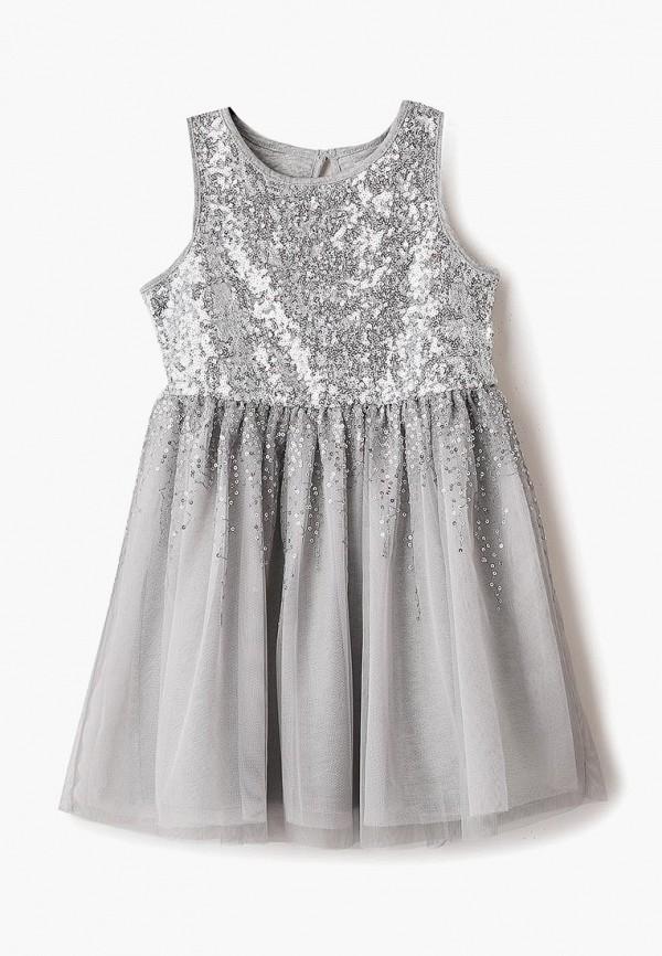 платье gap для девочки, серебряное