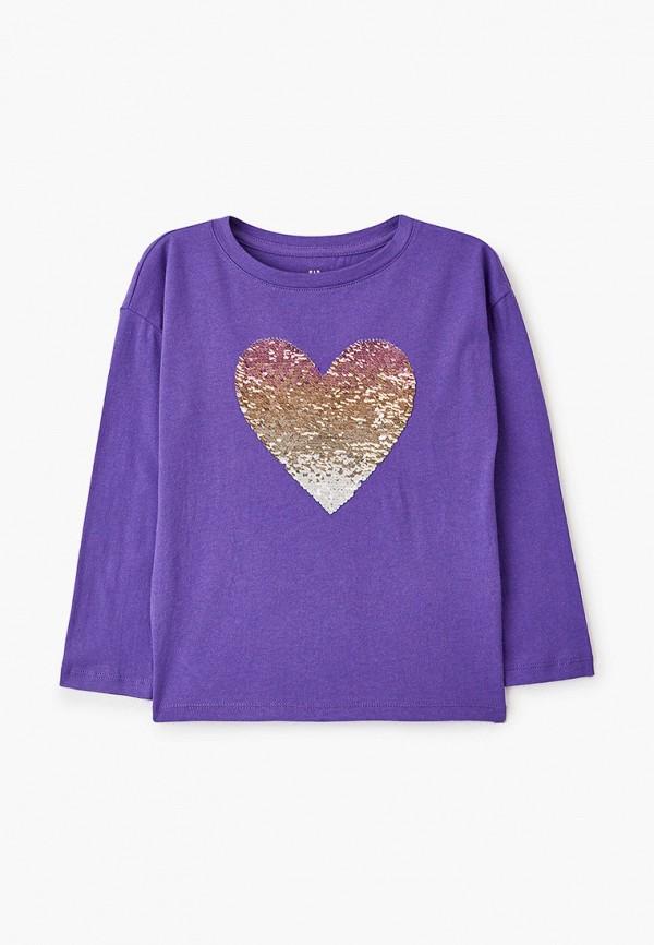 лонгслив gap для девочки, фиолетовый