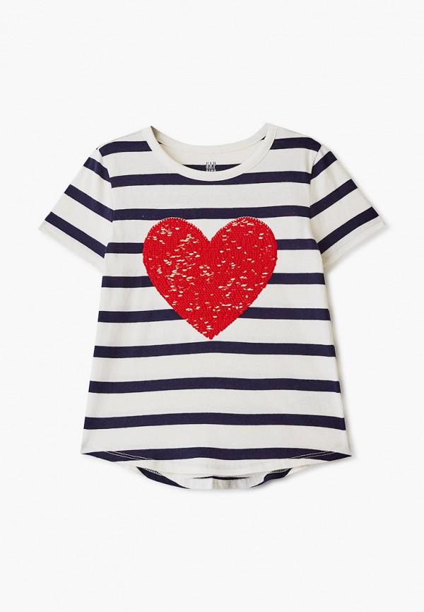 футболка с коротким рукавом gap для девочки, разноцветная