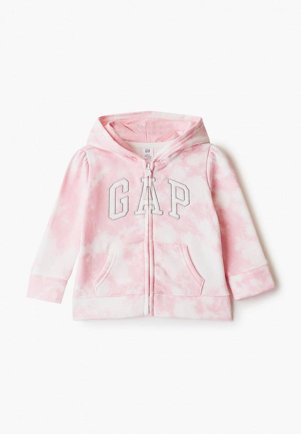 толстовка gap для девочки, розовая