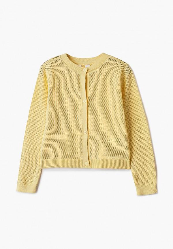 кардиган gap для девочки, желтый