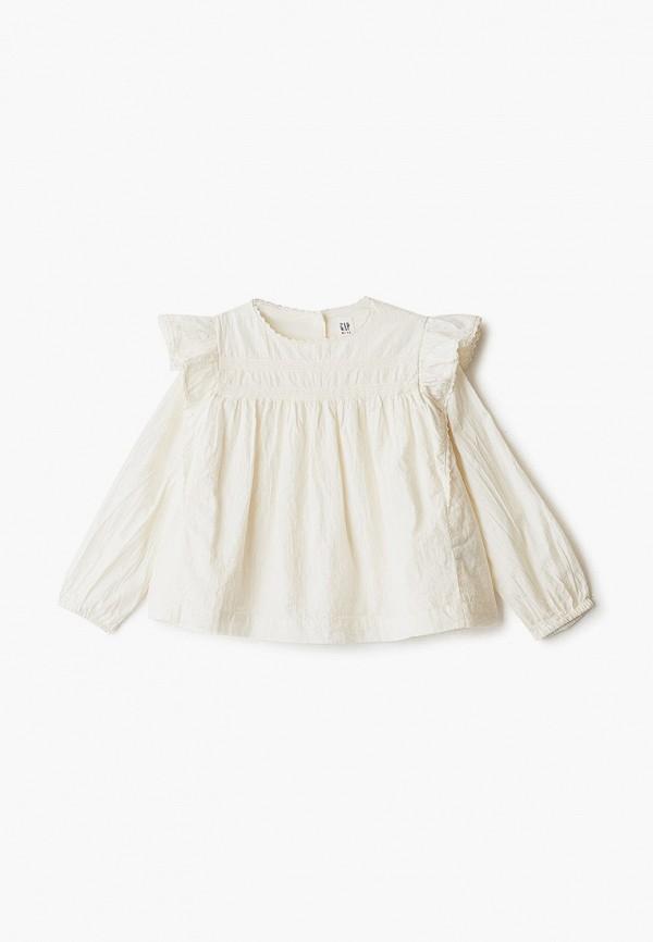 блузка gap для девочки, бежевая