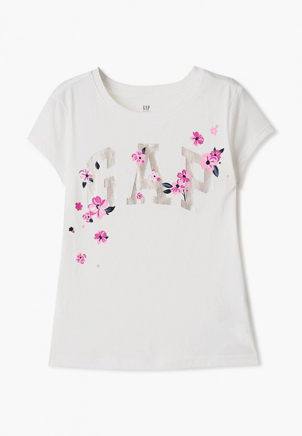 футболка с коротким рукавом gap для девочки, белая