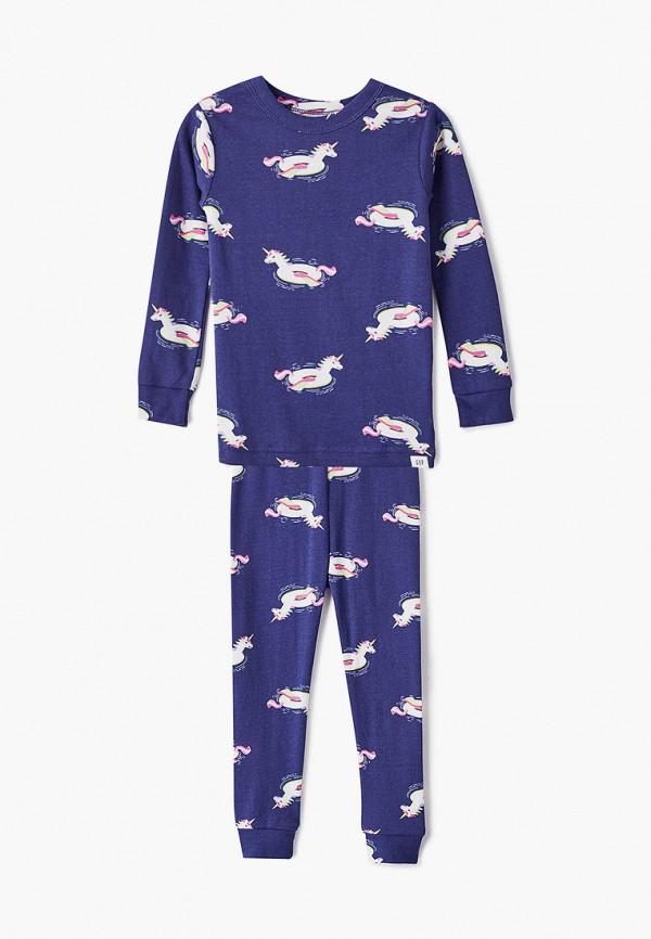 пижама gap для девочки, синяя