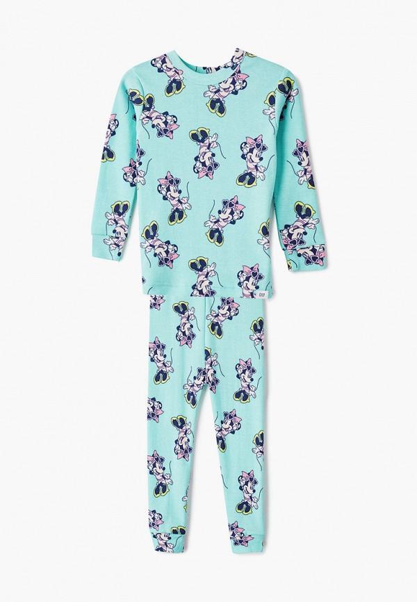 пижама gap для девочки, голубая