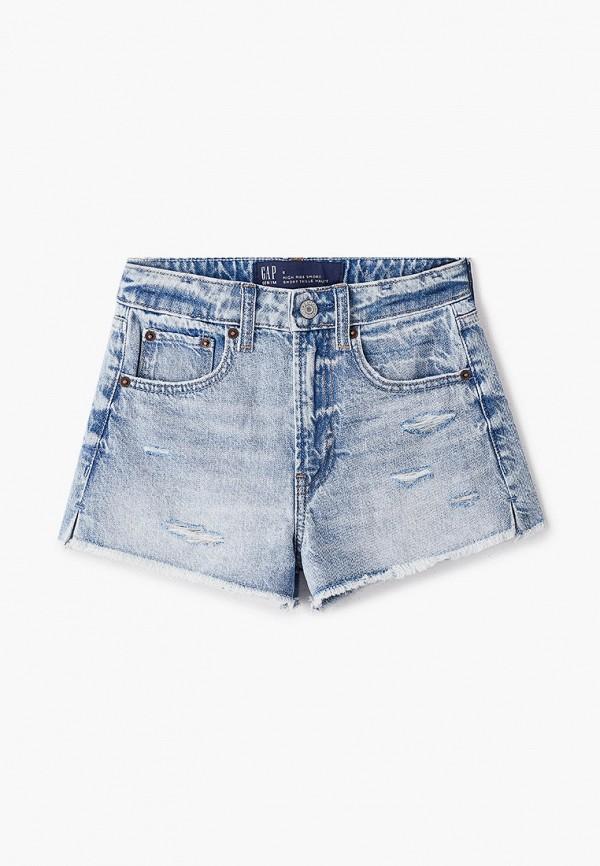 шорты gap для девочки, голубые