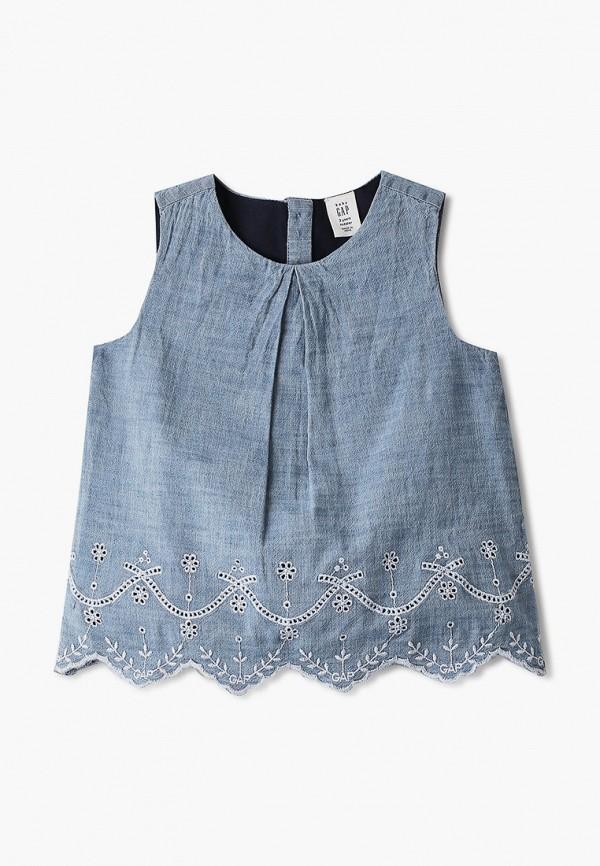 блузка gap для девочки, голубая