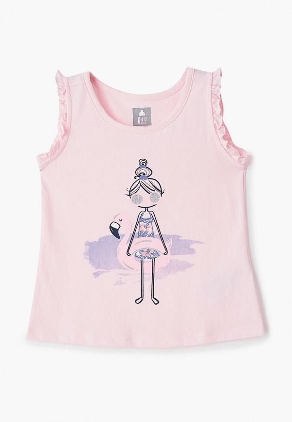 майка gap для девочки, розовая