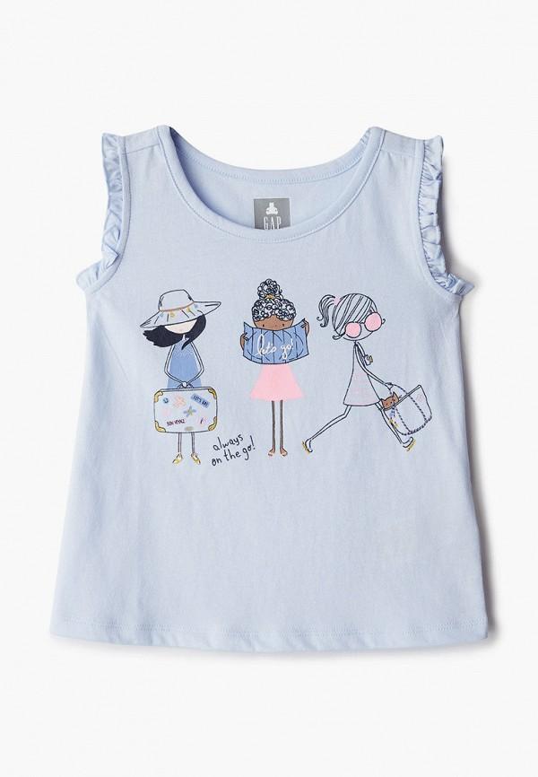 майка gap для девочки, голубая