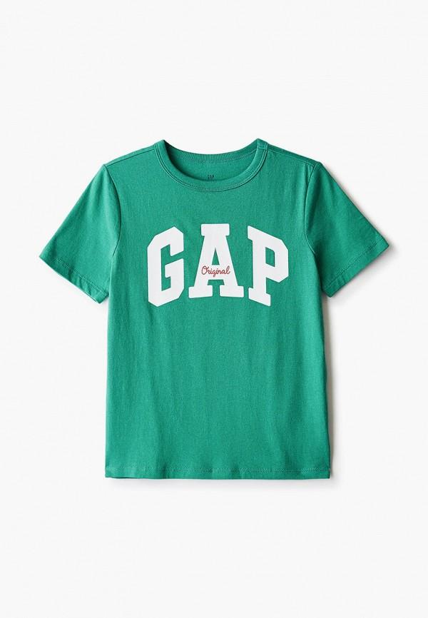 футболка с коротким рукавом gap для девочки, зеленая
