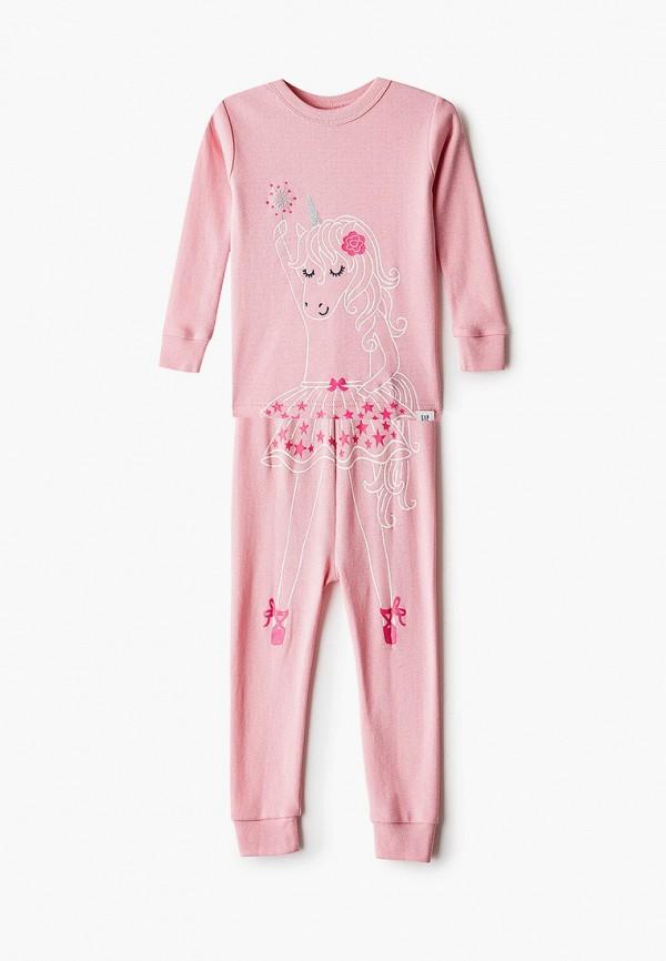 пижама gap для девочки, розовая