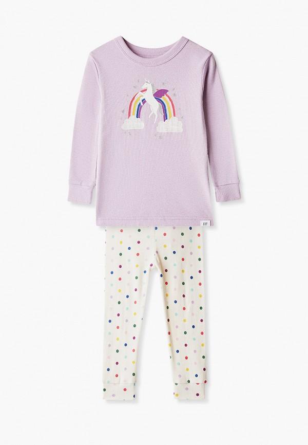 пижама gap для девочки, разноцветная
