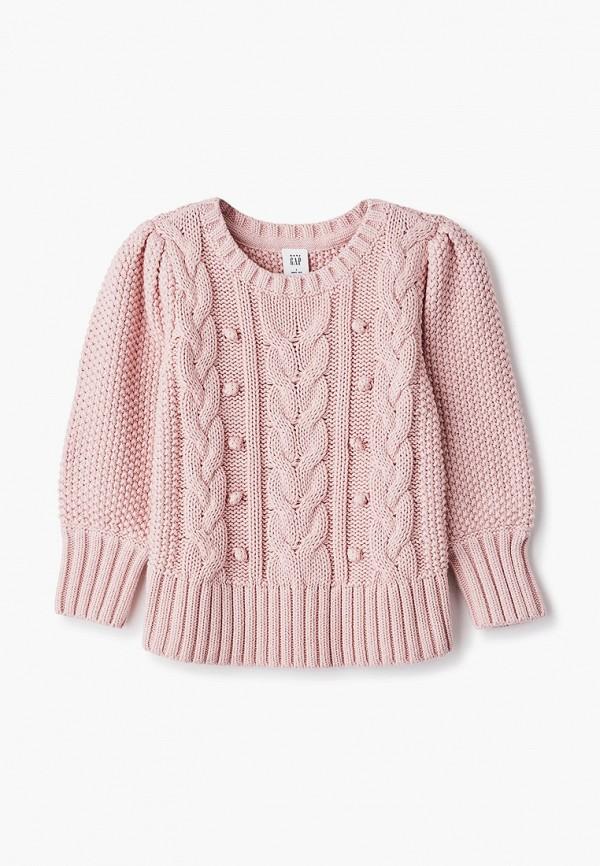 джемпер gap для девочки, розовый