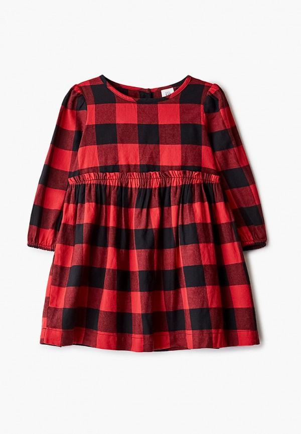 повседневные платье gap для девочки, красное