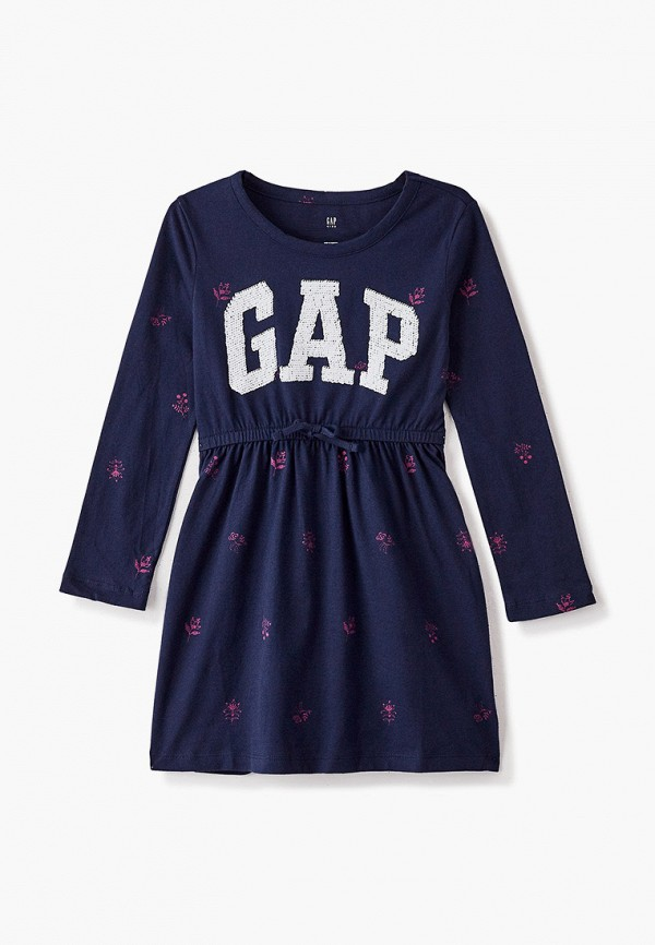 повседневные платье gap для девочки, синее