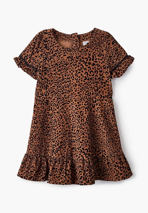 повседневные платье gap для девочки, коричневое