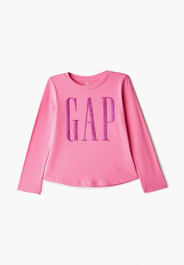 лонгслив gap для девочки, розовый