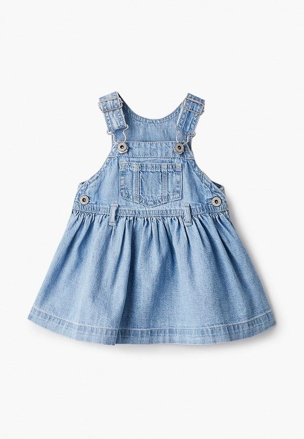 повседневные платье gap для девочки, голубое