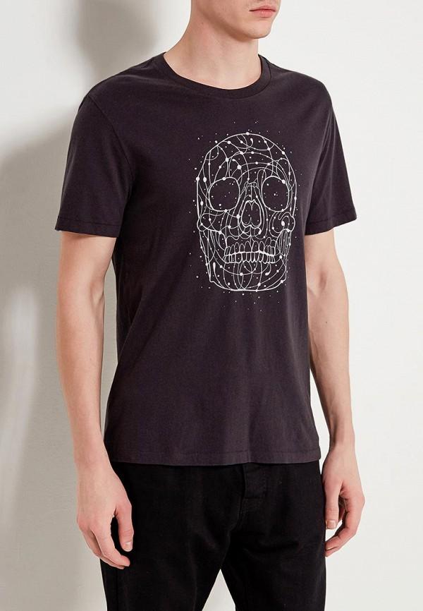 Купить мужскую футболку Gap черного цвета