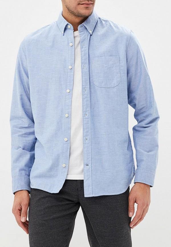 мужская рубашка с длинным рукавом gap, голубая