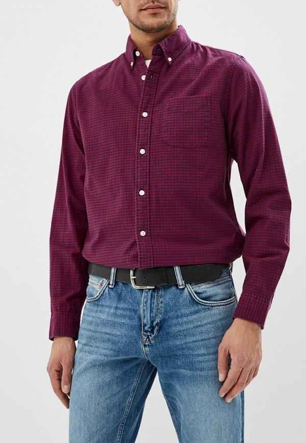 мужская рубашка с длинным рукавом gap, красная