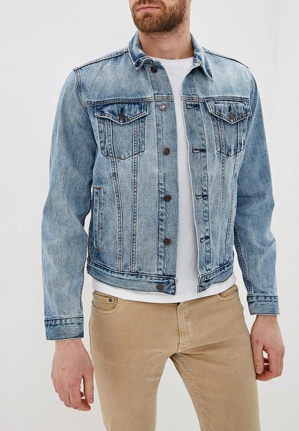 мужская джинсовые куртка gap, голубая