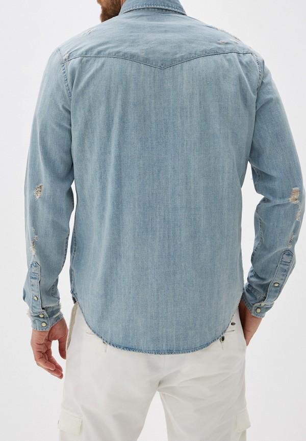 Фото 3 - Рубашку джинсовая Gap голубого цвета