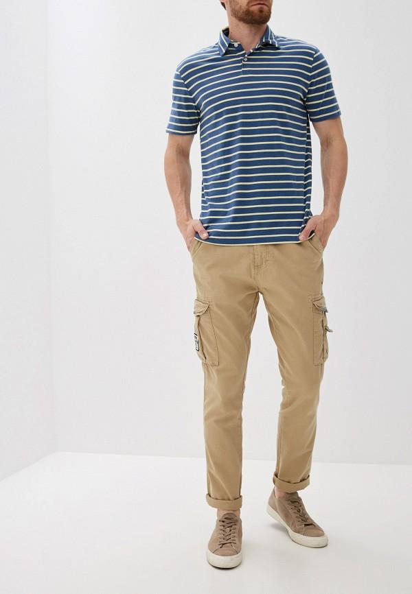 Фото 2 - мужское поло Gap синего цвета