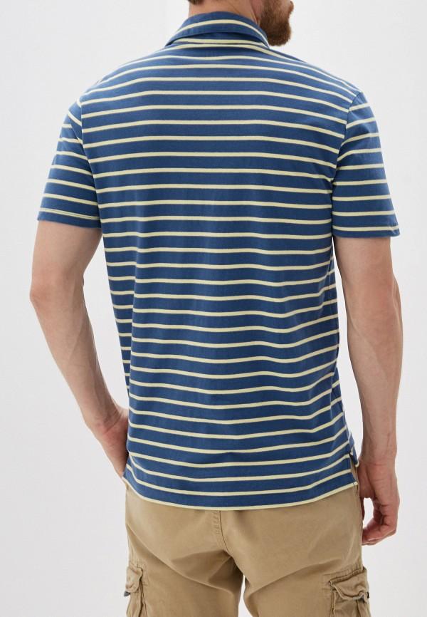 Фото 3 - мужское поло Gap синего цвета
