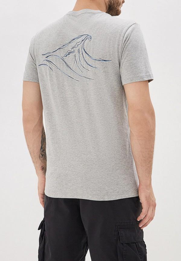 Фото 3 - мужскую футболку Gap серого цвета