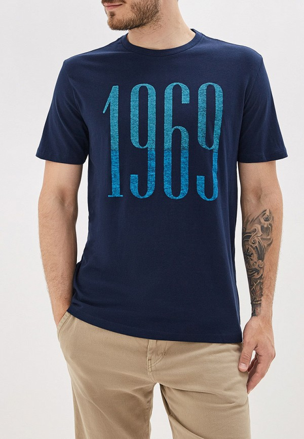 Фото - мужскую футболку Gap синего цвета