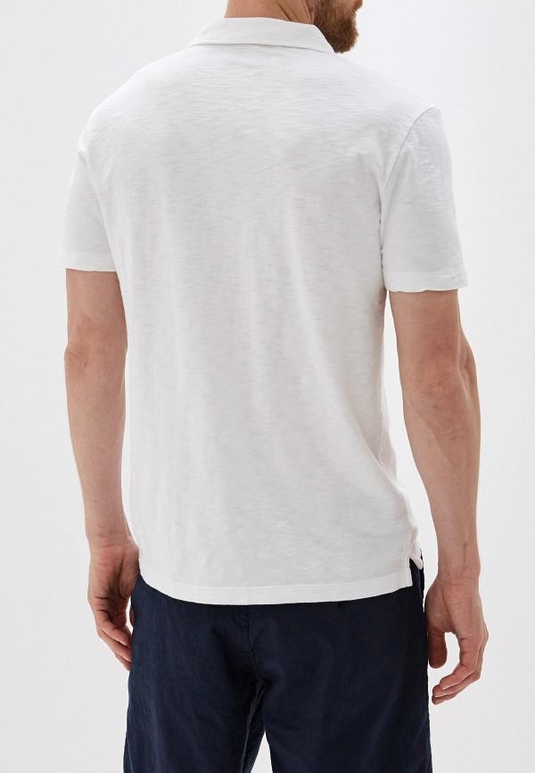 Фото 3 - мужское поло Gap белого цвета