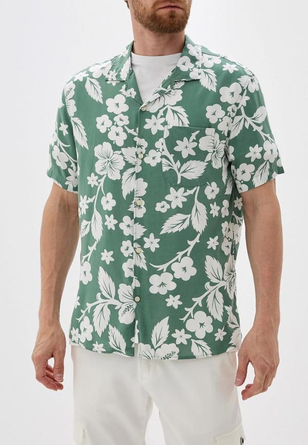 мужская рубашка с коротким рукавом gap, зеленая