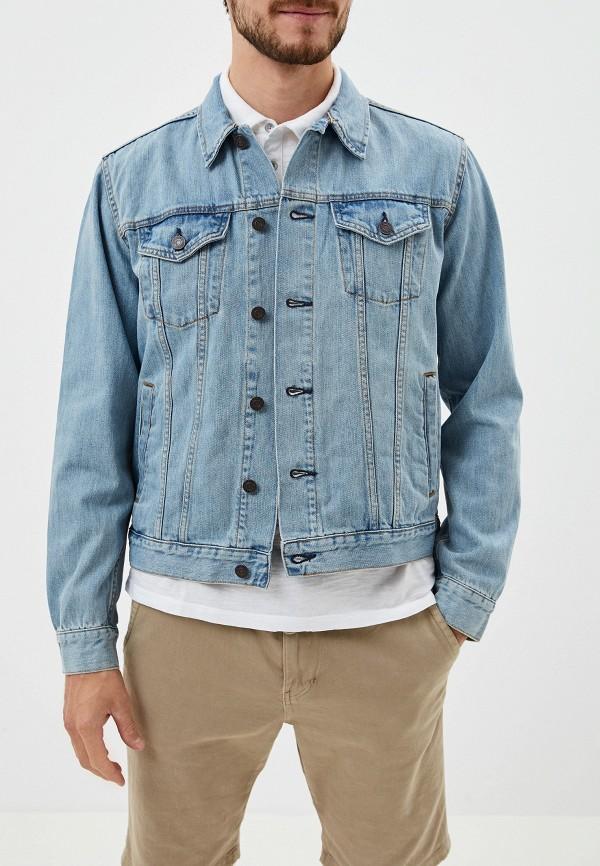 Фото - Куртку джинсовая Gap голубого цвета