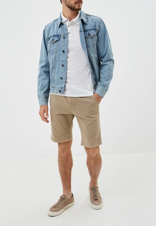 Фото 2 - Куртку джинсовая Gap голубого цвета