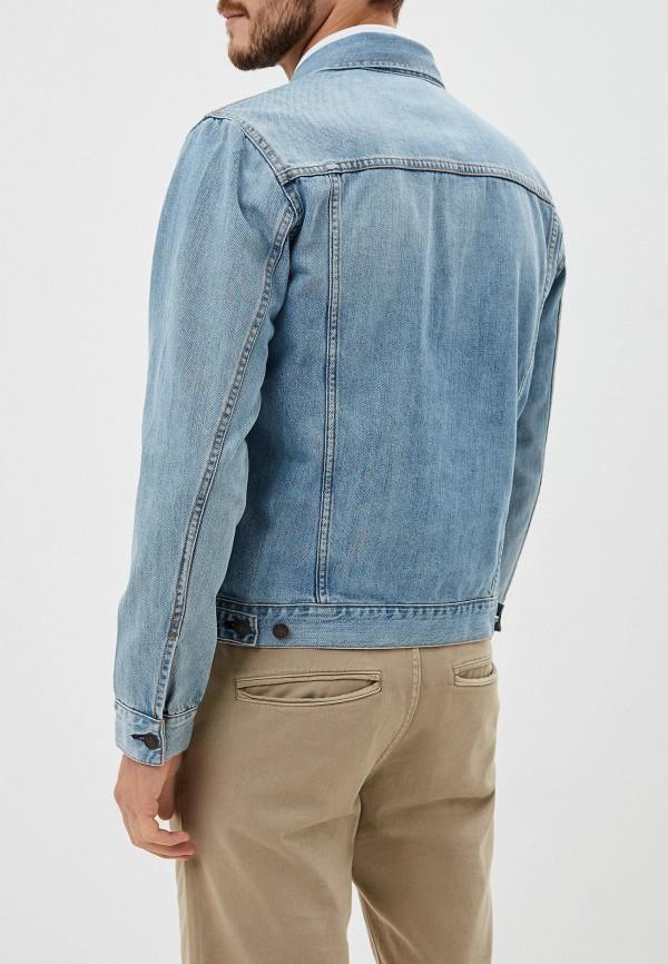 Фото 3 - Куртку джинсовая Gap голубого цвета